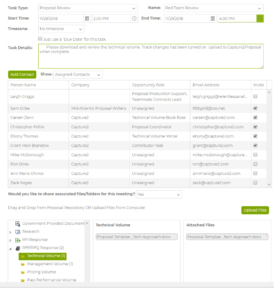 A screenshot of the C2P app displaying it's Proposal Management capabilities