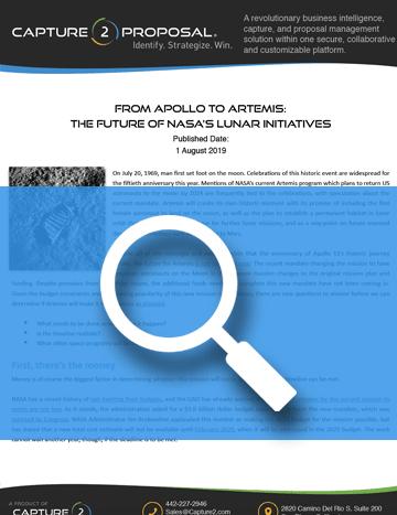 Capture2 Report – Future of NASA Lunar Initiatives