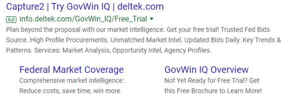 Recent online paid advertisement