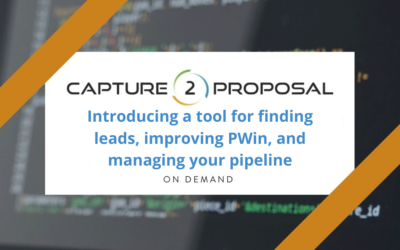 Introducing a tool for finding leads, improving PWin, and managing your pipeline