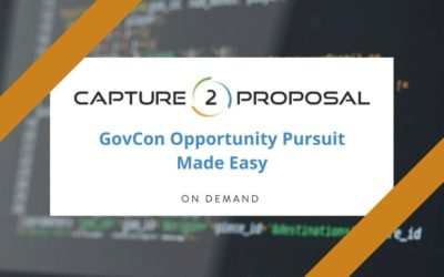 GovCon Opportunity Pursuit Made Easy