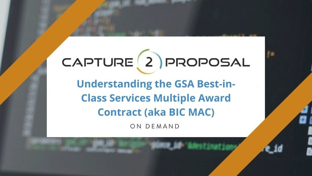 Understanding the GSA Best-in-Class Services Multiple Award Contract